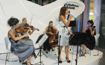 The String Quartet at the opening of the new building of Raiffeisen Bank